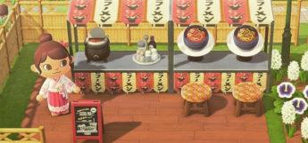 Custom Ramen Stall with Japanese Aesthetic in New Horizons