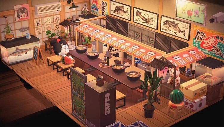 The ultimate ramen restaurant in ACNH