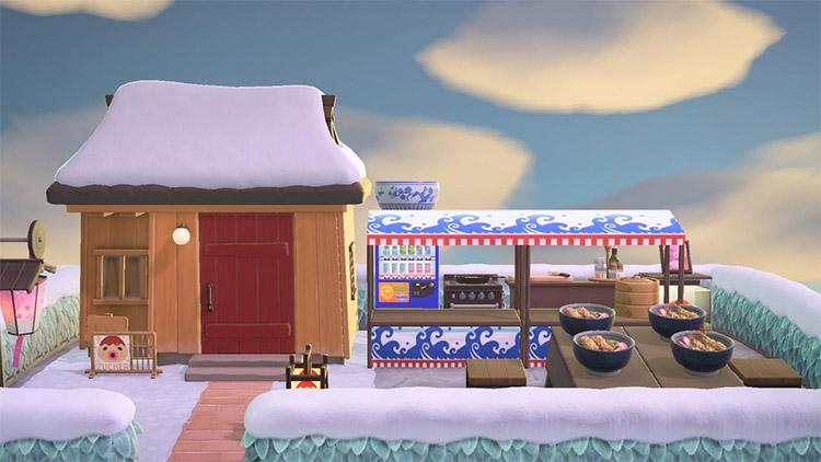 Front yard ramen kitchen in ACNH