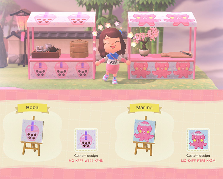 Boba tea stand + Mochi stand in ACNH