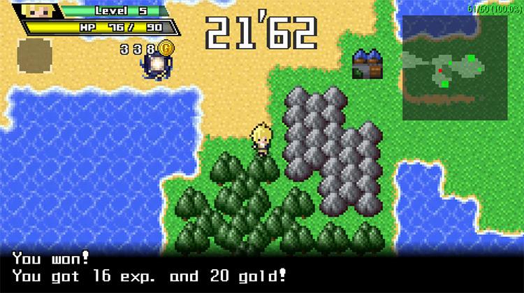 Half-Minute Hero gameplay on PSP