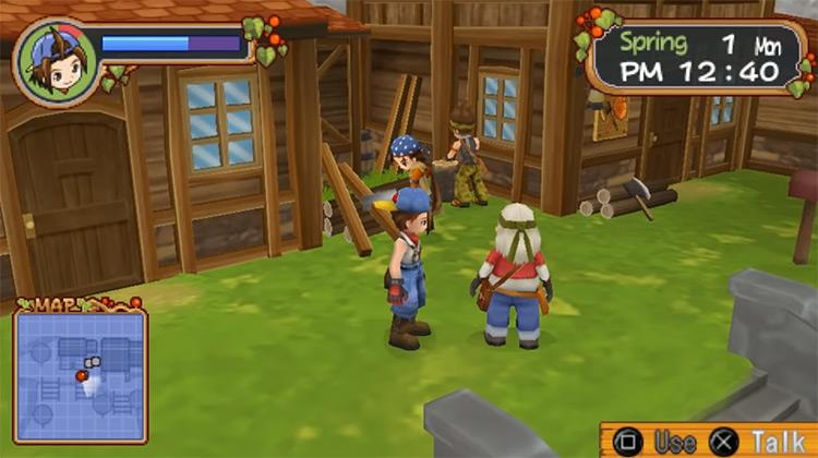 Harvest Moon: Hero of Leaf Valley gameplay