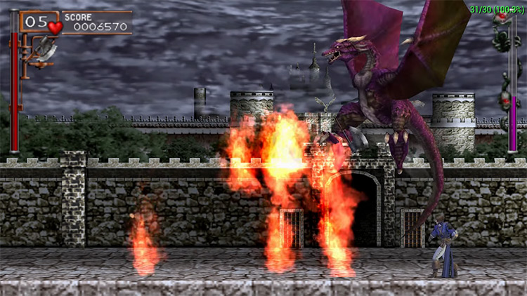 Castlevania: The Dracula X Chronicles gameplay