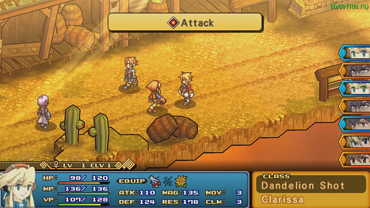 Wild ARMs XF gameplay on PSP