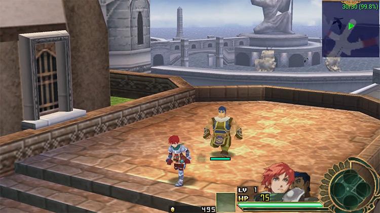 Ys Seven PSP gameplay screenshot