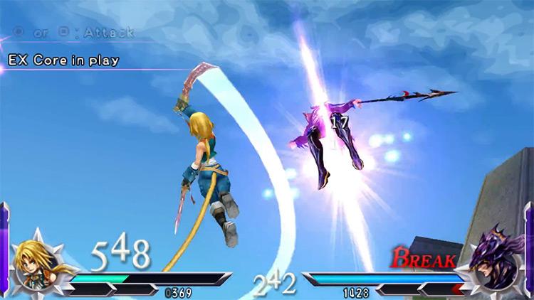 Dissidia 012: Duodecim Final Fantasy gameplay