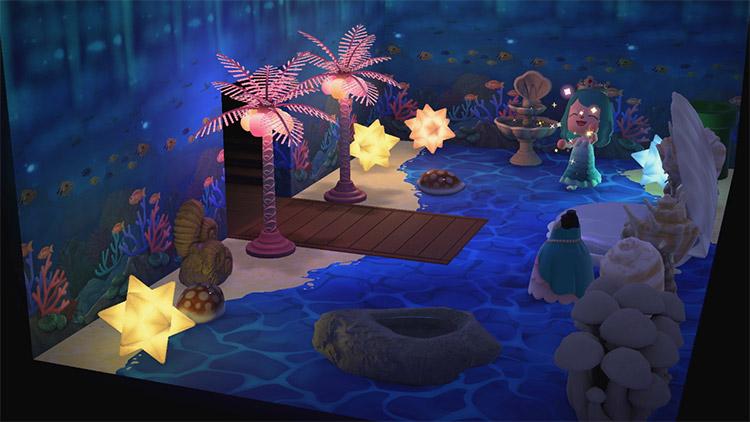 Warp pip in mermaid cove area - ACNH Idea