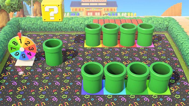 ACNH Warp Pipe Minigame Idea
