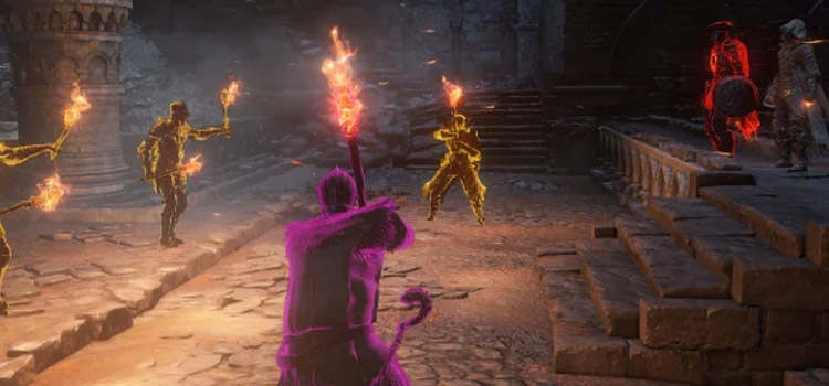 Sunbros with torches in Dark Souls 3