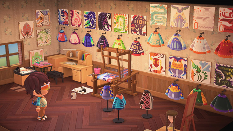 Custom fashion studio workshop in ACNH