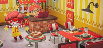 McDonalds Restaurant Interior in Animal Crossing New Horizons