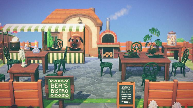 Bea's Bistro Outdoor Restaurant in ACNH