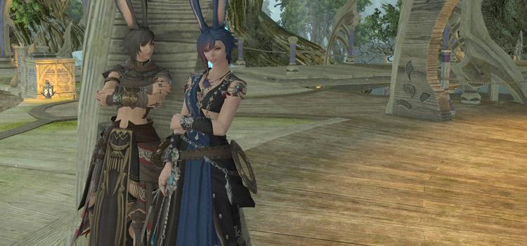 Twin vierra characters in Final Fantasy XIV