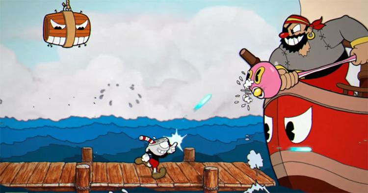 Cuphead boss battle screenshot