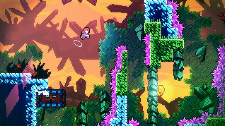 Celeste screenshot of gameplay