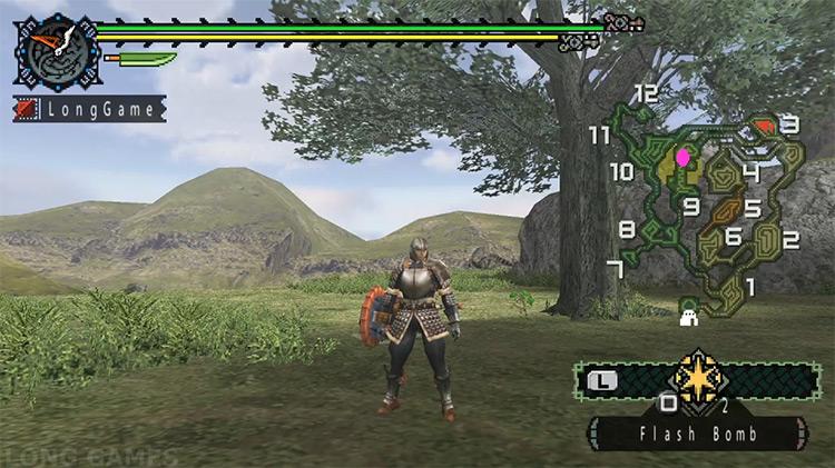 Monster Hunter Freedom video game screen
