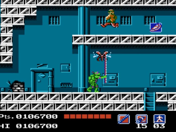 Teenage Mutant Ninja Turtles NES game screenshot