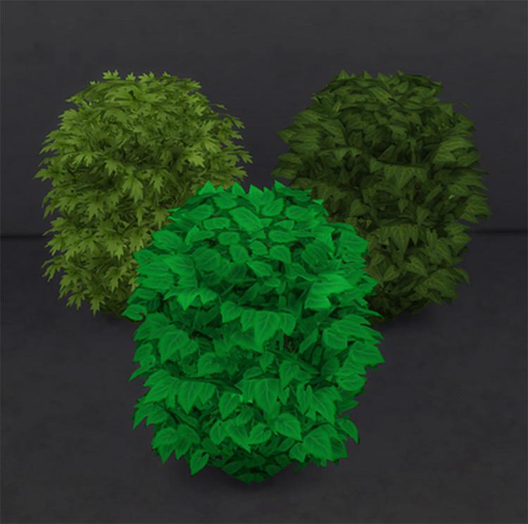 Toilet Bush Recolors / Sims 4 CC