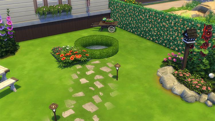 Round the Shrub Custom CC for Sims 4