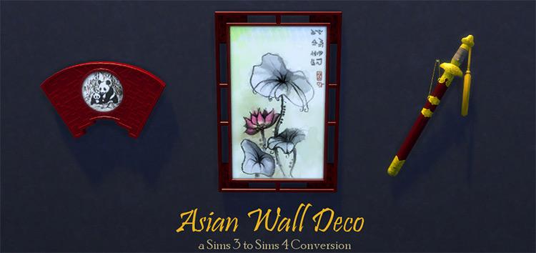 Asian Deco Sims 4 CC