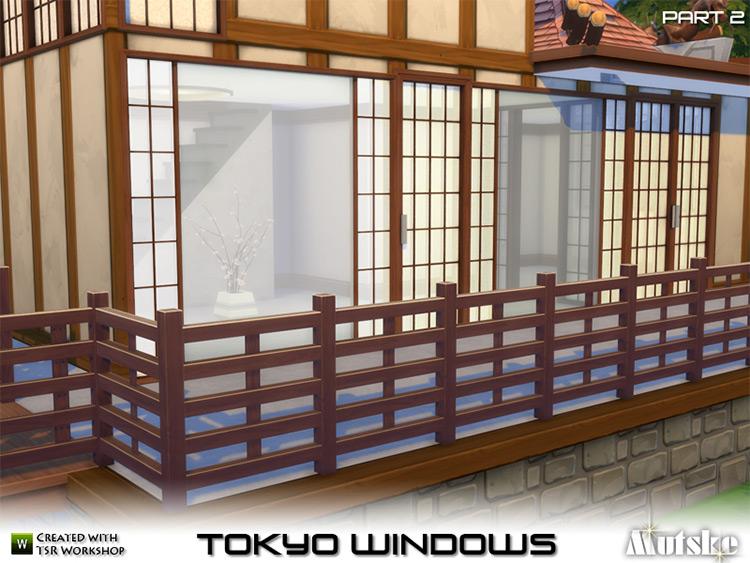 Tokyo Windows, Doors, and More TS4 CC
