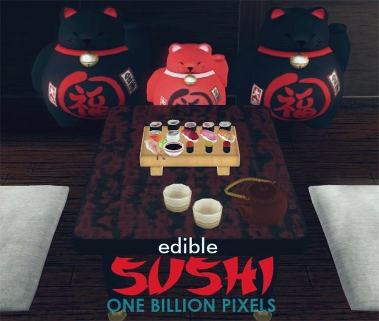 Edible Sushi Sims 4 CC screenshot