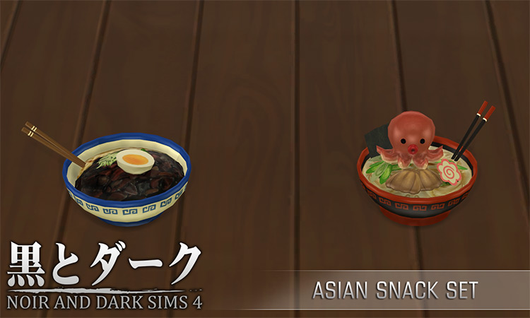 Asian Snack Set for Sims 4