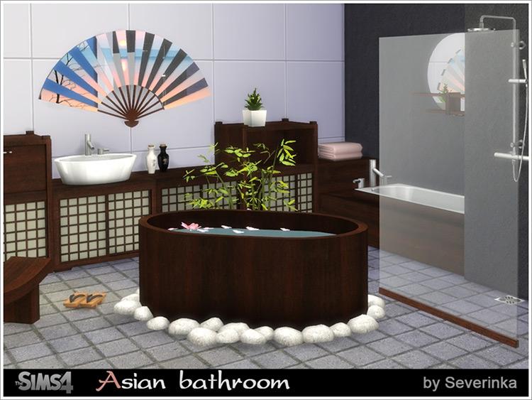 Asian Bathroom Sims 4 CC