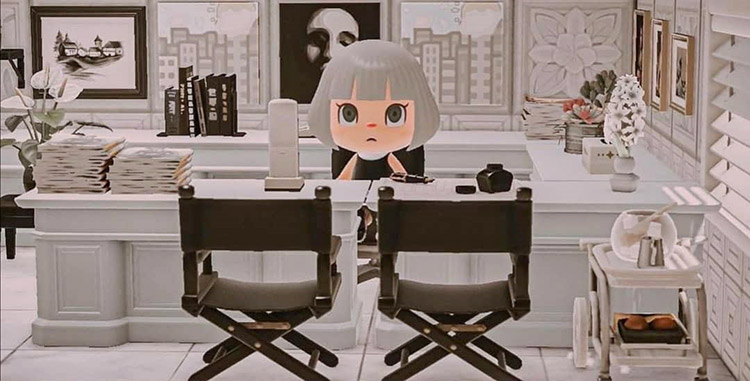Meryl Streep's office in Devil Wears Prada / ACNH Idea