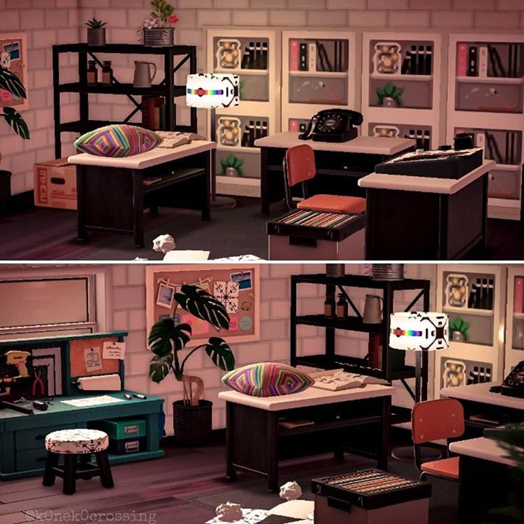 Custom art studio build in ACNH