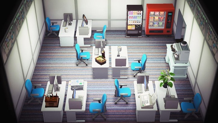 Traditional office space room in ACNH