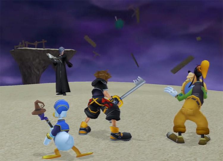 Zexion Absent Silhouette Battle Screenshot in KH2.5