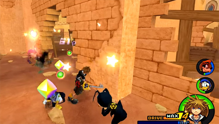 Agrabah Battle with Orbs in KH2.5