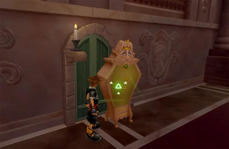 Sora in Beasts Castle in KH2.5