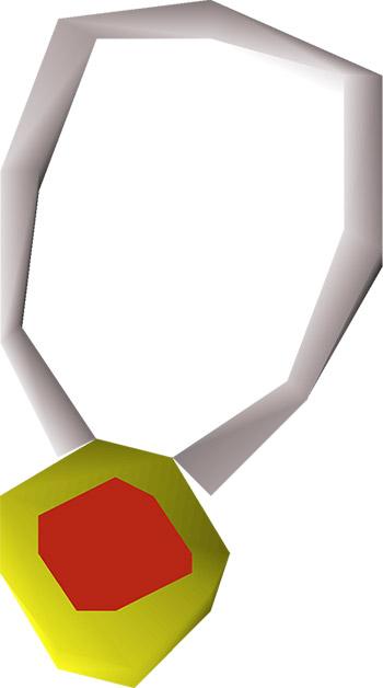 Amulet of Strength OSRS Render