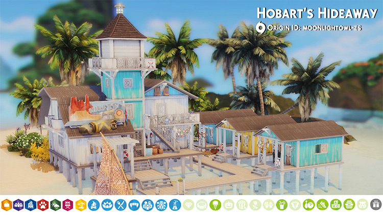 Hobart's Hideaway by Moonlightowles for The Sims 4