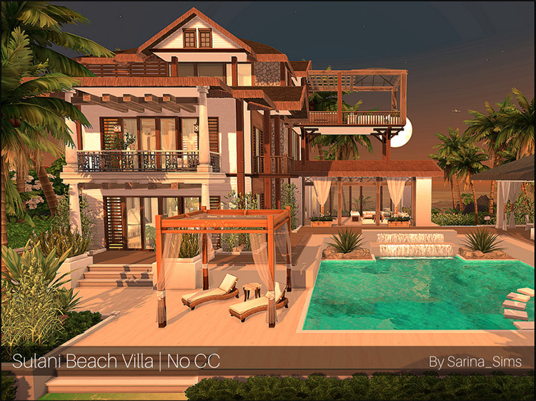 Sulani Beach Villa for The Sims 4