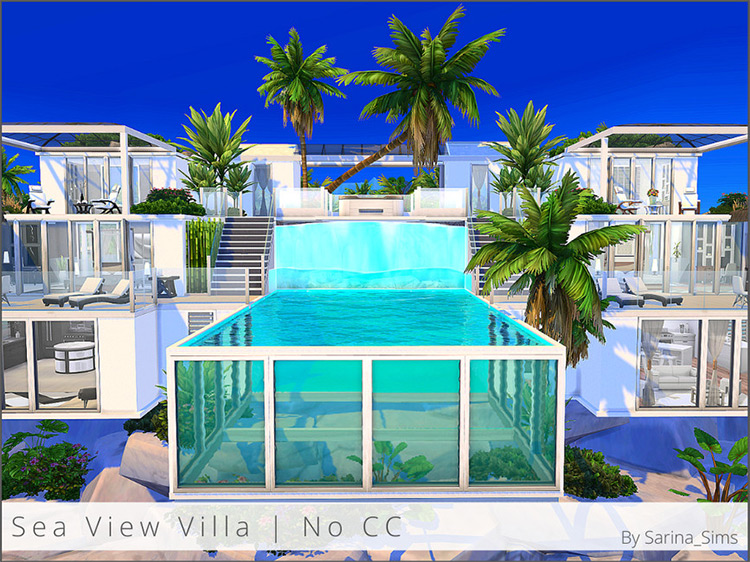 Sea View Villa / Sims 4 Lot