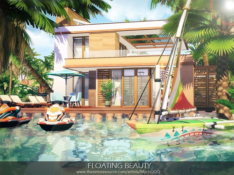 Floating Beauty Home for The Sims 4