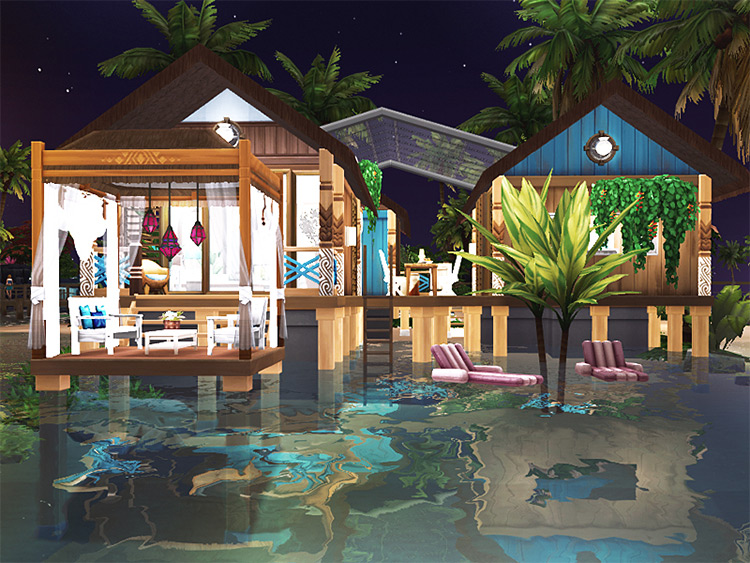 Yasha Beach Homse / Sims 4 Lot preview
