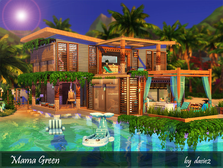 Mama Green House / Sims 4 Lot