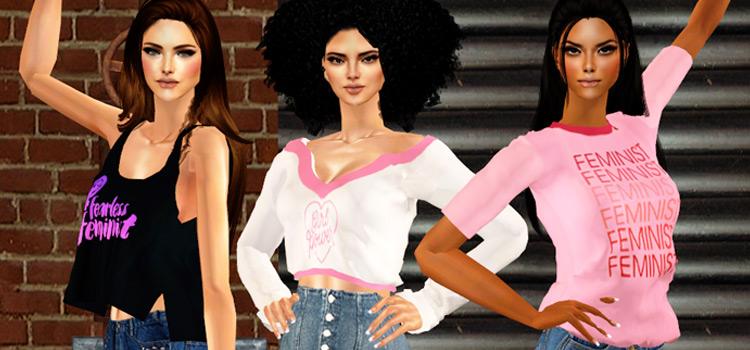 Sims 4 Womens Day Feminist Shirts CC