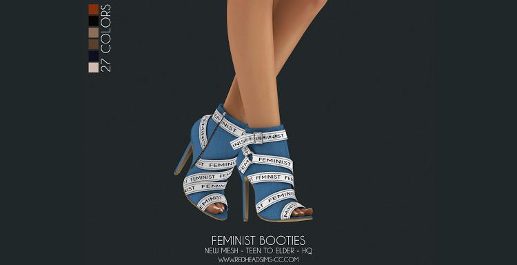 Feminist Booties Sims 4 CC screenshot