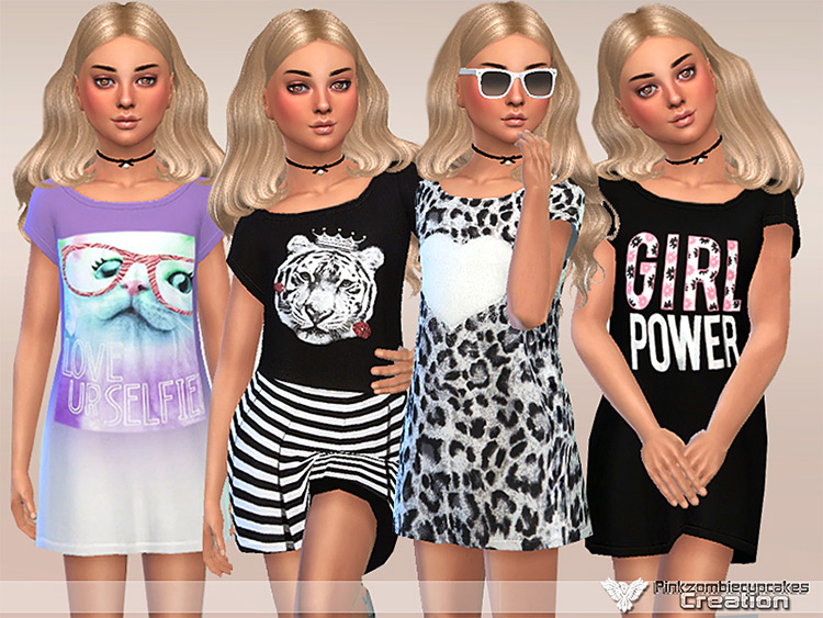 Girls Power Dress Collection TS4 CC