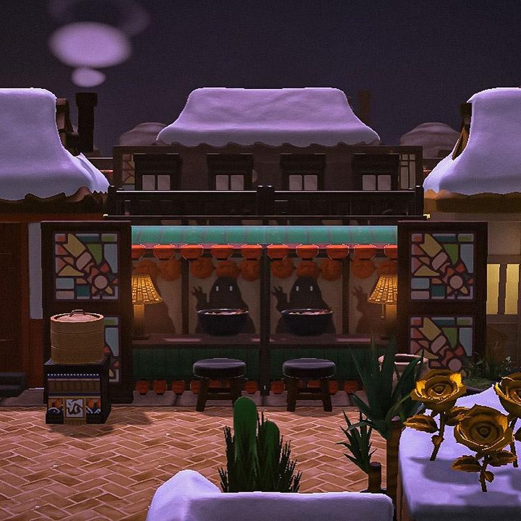 Spirited Away custom food stalls / ACNH Idea