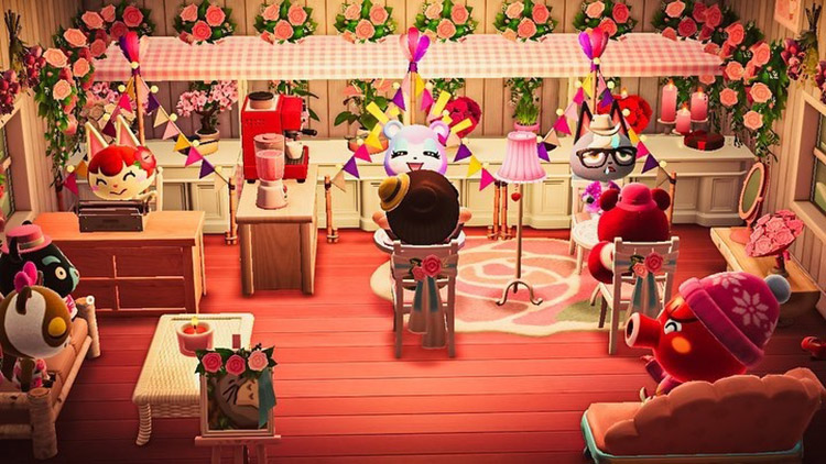 Valentines Day store with stalls / ACNH Idea