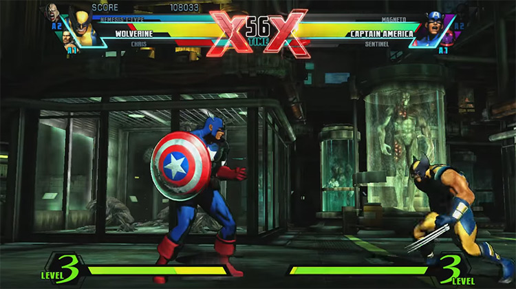 Ultimate Marvel vs. Capcom 3 gameplay on PS3