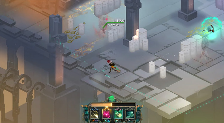 Transistor gameplay on PS4