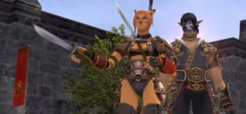 FFXI screenshot of characters in town