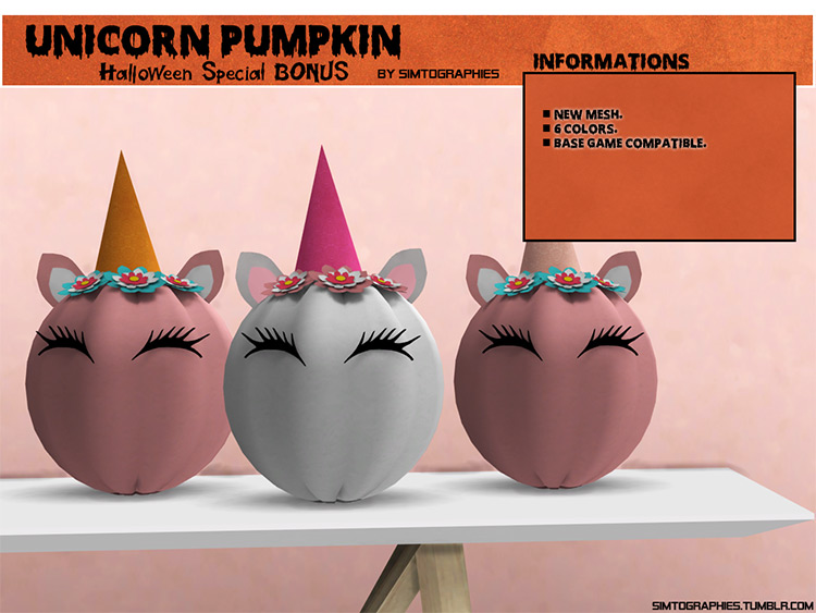 Unicorn Pumpkin / Sims 4 CC